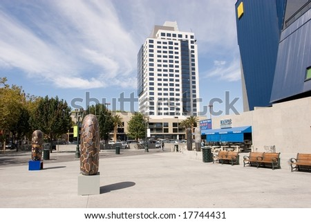 Downtown Historic District of San Jose, California is an area of the city roughly the size of one square block.