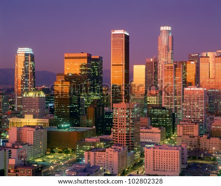 Downtown Los Angeles Skyline, California