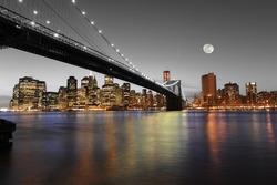 Downtown Manhattan: An artistic interpretation of the awe inspiring Manhattan skyline