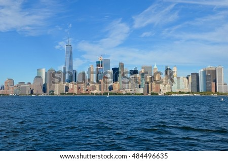 Downtown Manhattan skyline, New York City, USA #484496635