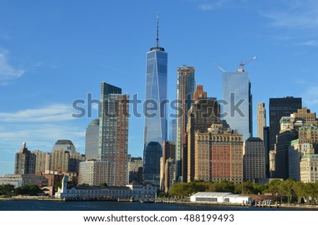 Downtown Manhattan skyline, New York City, USA #488199493