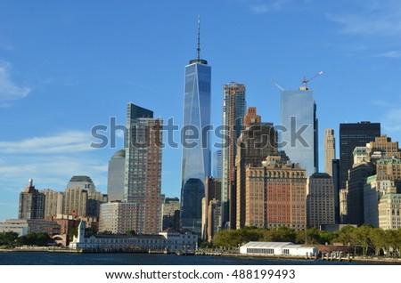 Downtown Manhattan skyline, New York City, USA #488199493