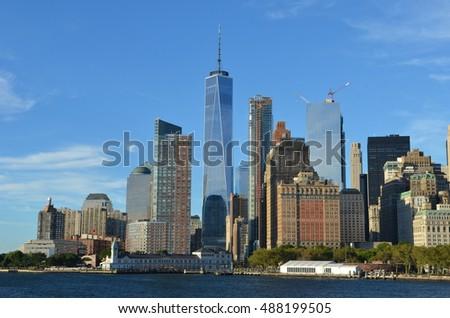 Downtown Manhattan skyline, New York City, USA #488199505