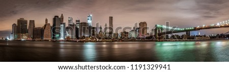 Downtown Manhattan Without Lights after Super Storm Sandy