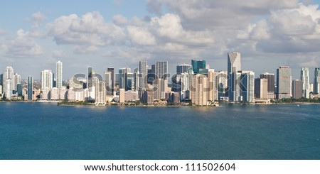 Downtown Miami and its financial district viewed from 200 feet.