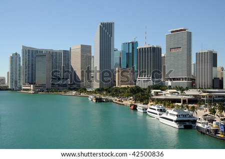 Downtown Miami, Florida USA