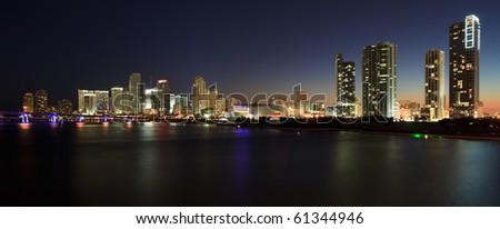 Downtown Miami Skyline Panorama.