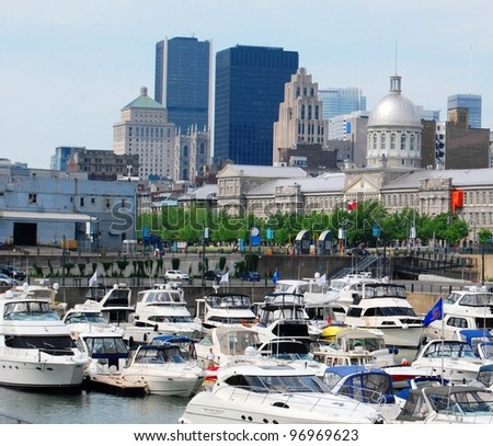 Downtown Montreal, and Bonsecours Market in Quebec, Canada