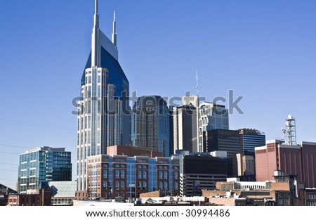 Downtown Nashville, Tennessee - seen afternoon.