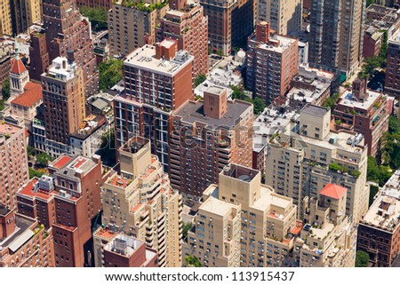 Downtown New York City Birds Eye View