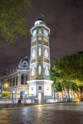 downtown night scene guayaquil ecuador south america