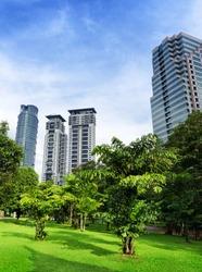 Downtown of Kuala Lumpur in KLCC district.