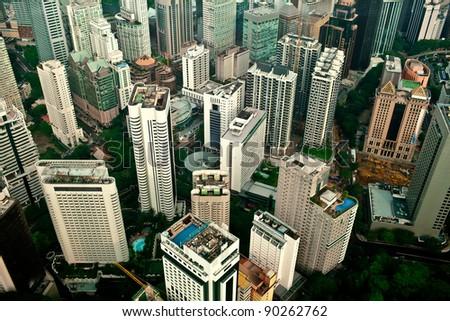 Downtown of Kuala Lumpur, Malaysia - stock photo