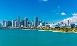 Downtown of Miami, Florida, USA