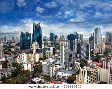 Downtown Panama City Skyscrapers, Panama. #1068801224