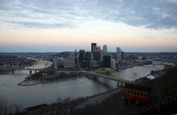 Downtown Pittsburgh at sunset from Mt. Washington
