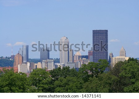 Downtown Pittsburgh's skyline