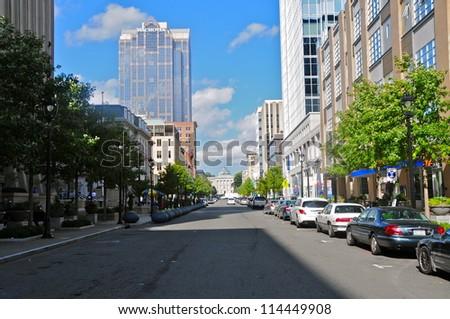 Downtown Raleigh, North Carolina, USA