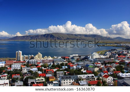 Downtown Reykjavik, Iceland. - stock photo