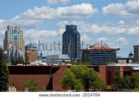 Downtown Sacramento, California - stock photo