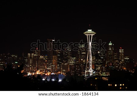 Downtown Seattle and Space Needle view from Queen Anne