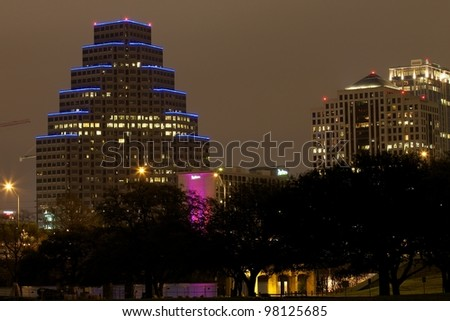 Downtown Skyline at night