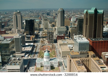Downtown St. Louis from the Arch