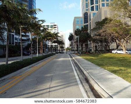 Downtown Street  #584672383