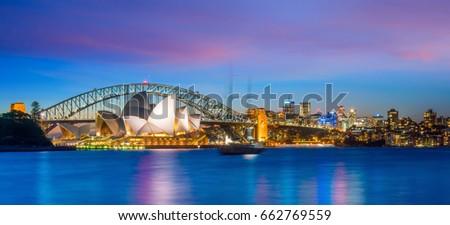 Downtown Sydney skyline in Australia at twilight Сток-фото ©