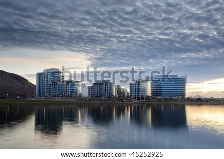 downtown tempe office and condo buildings with tempe town