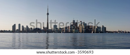 Downtown Toronto at late afternoon
