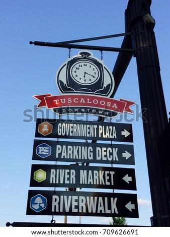 Downtown Tuscaloosa Street Sign