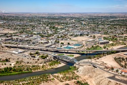 Downtown Yuma, Arizona aerial view in 2009