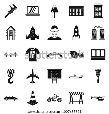 Draft icons set. Simple set of 25 draft  icons for web isolated on white background
