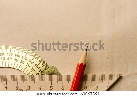Drafting tools isolated