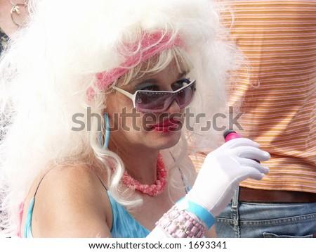 drag queen/ gay-pride parade