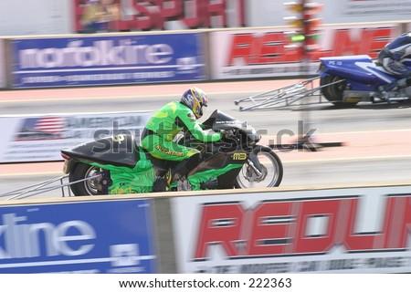 drag racing bike at Santa Pod