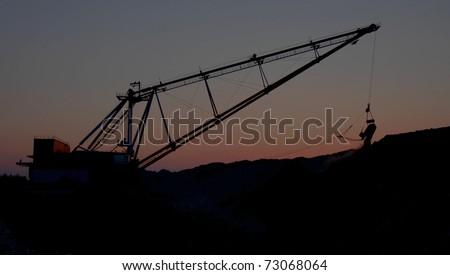 dragline in open cast mining...