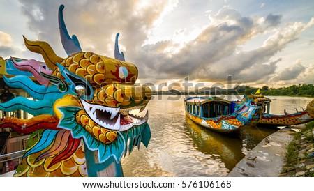 Photo of  Dragon boat in Hue, Vietnam