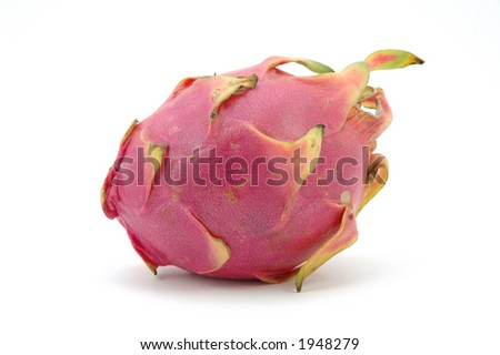 Dragon fruit in isolated white
