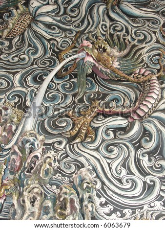Dragon in the cloud: wall crafting in typical Chinese temple