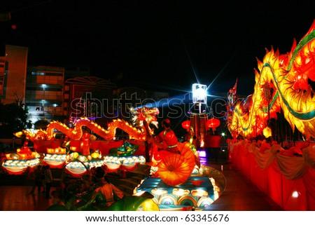 Dragon Lantern Chinese New Year Festival at thailand