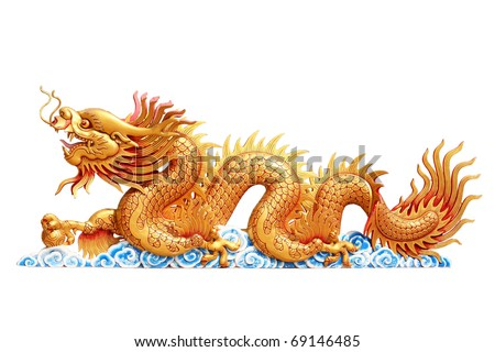 Dragon on white background