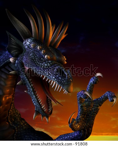 Dragon Portrait - stock photo