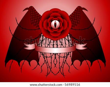 Dragon Rose Tattoo Design - Raster Stock Photo 56989516 : Shutterstock