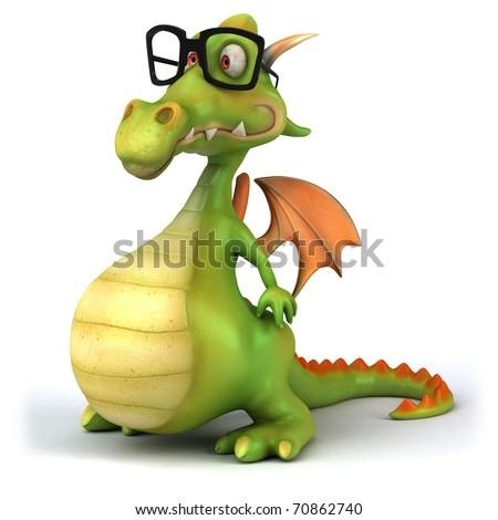 Dragon with glasses