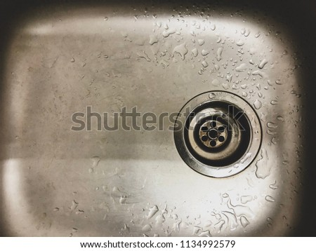 Drain hole of stainless steel sink