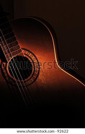 Dramatic acoustic classical guitar.