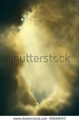 dramatic backdrop of the sky with clouds