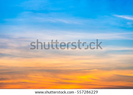 dramatic beautiful sunset and sunrise sky